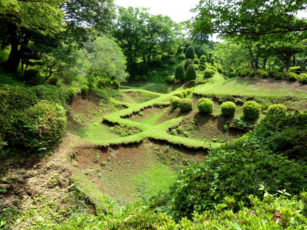 山中城の障子堀