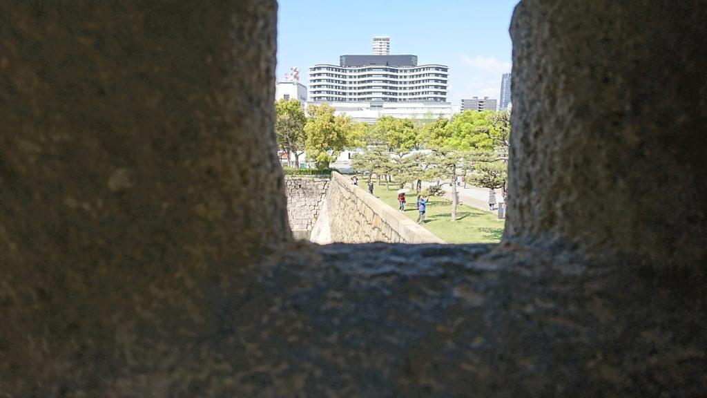 大阪城にある狭間