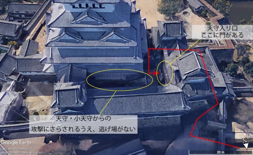 姫路城天守へのルート