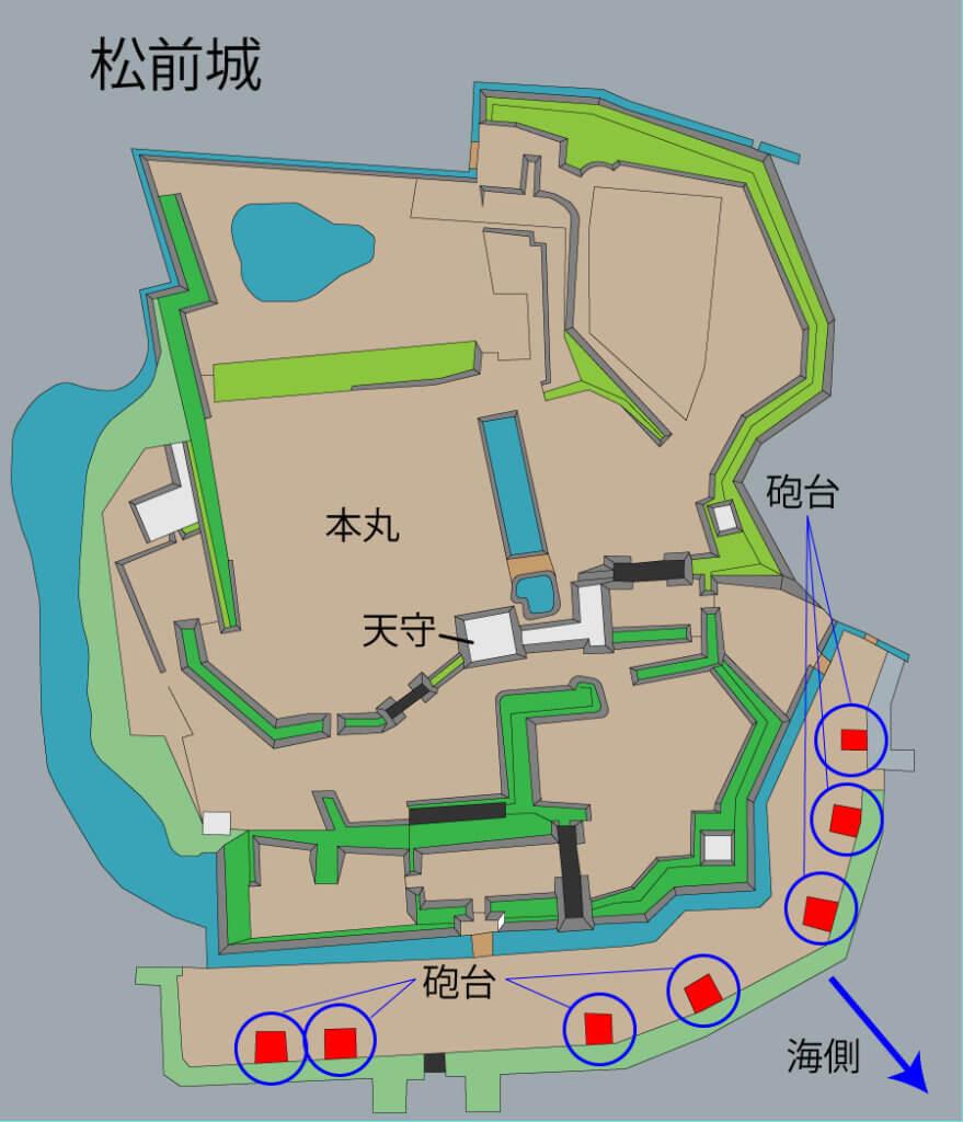 松前城 縄張図
