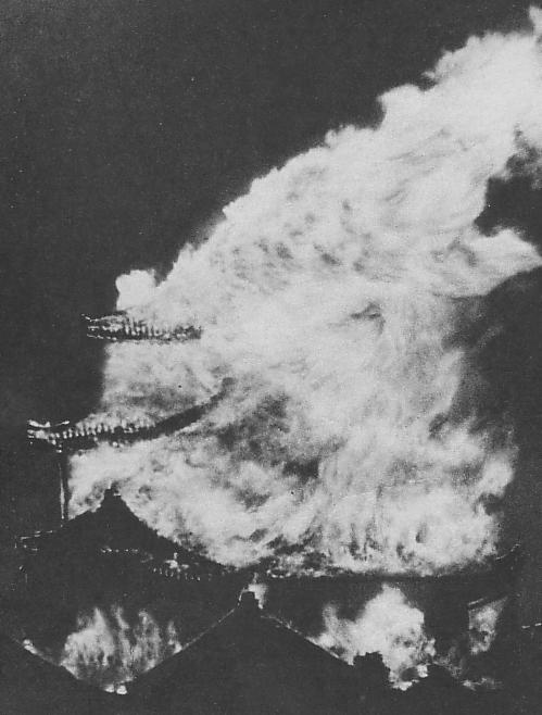 大炎上する名古屋城天守