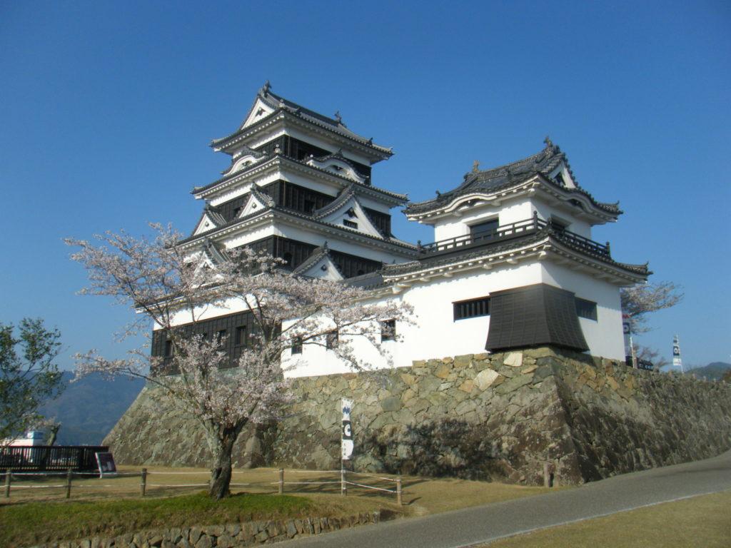 大洲城の復元天守