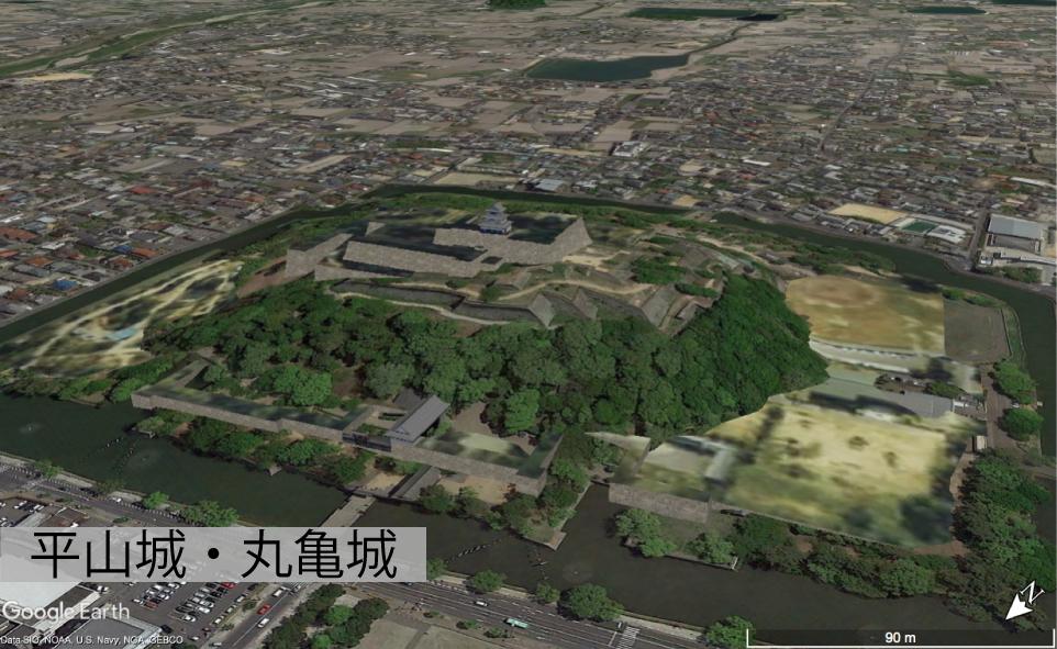 平山城の丸亀城