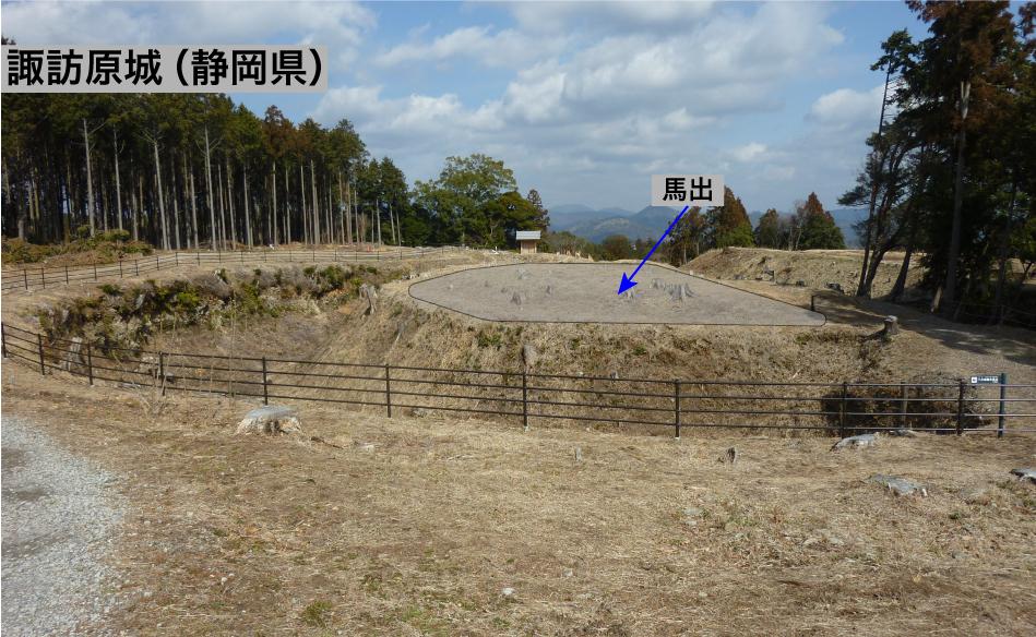 諏訪原城(静岡県)の馬出し