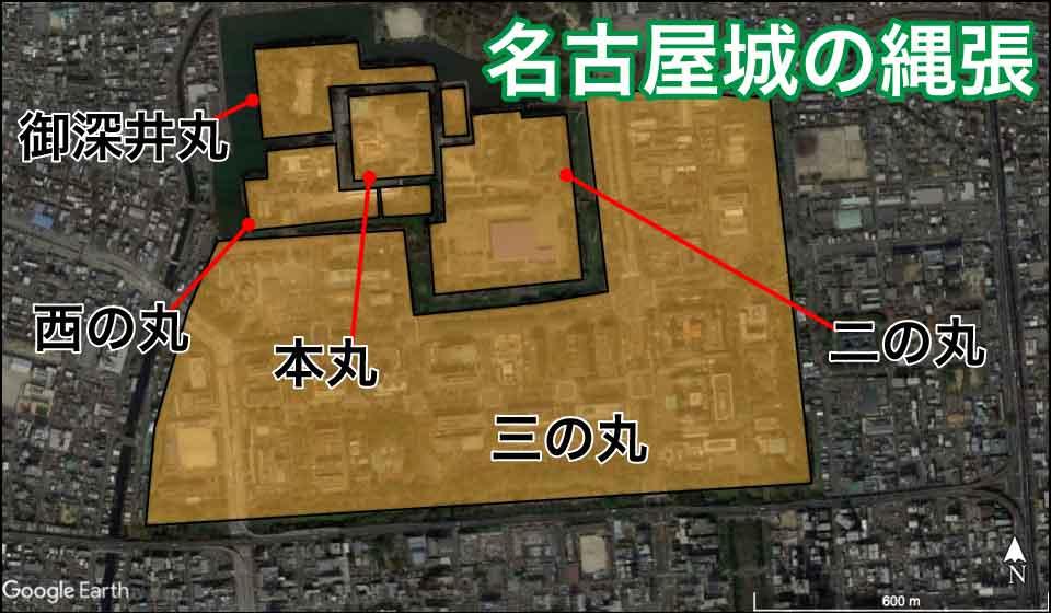 名古屋城の縄張