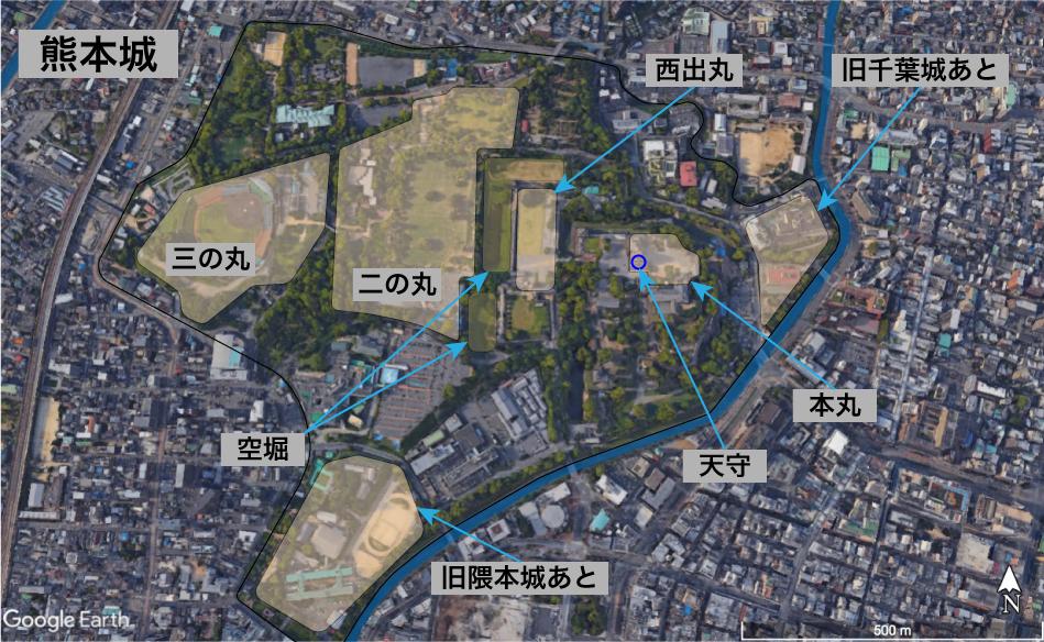 熊本城の縄張