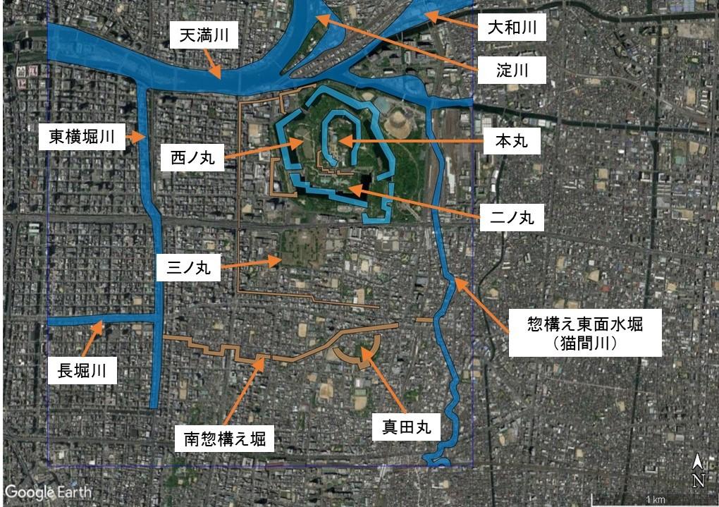 大坂城の縄張
