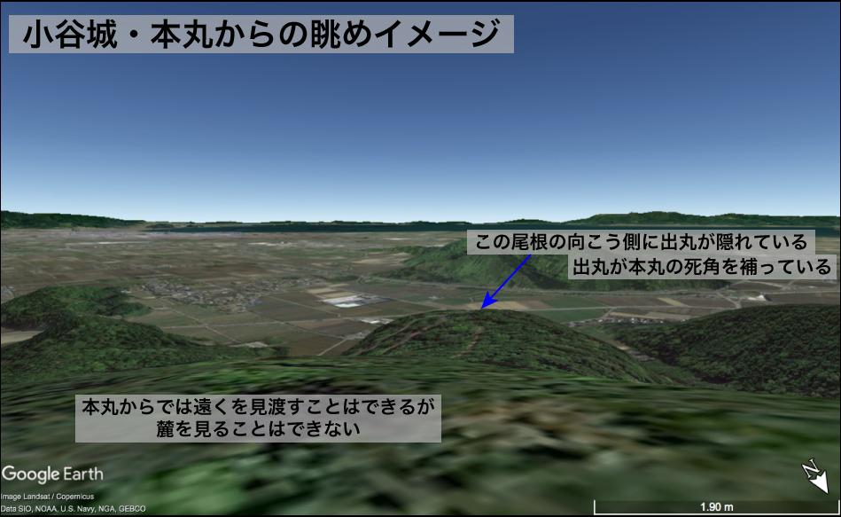 小谷城・本丸からの眺めイメージ