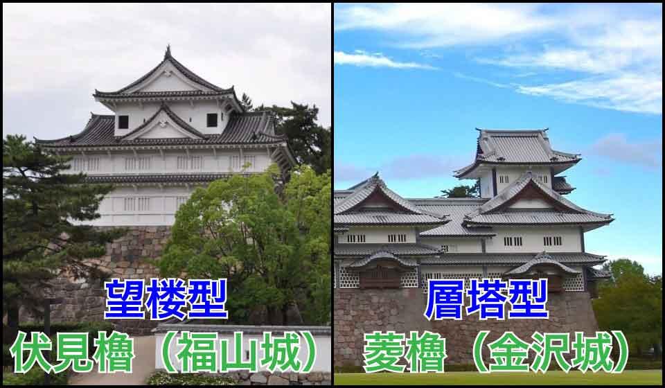 櫓の形「望楼型」「層塔型」