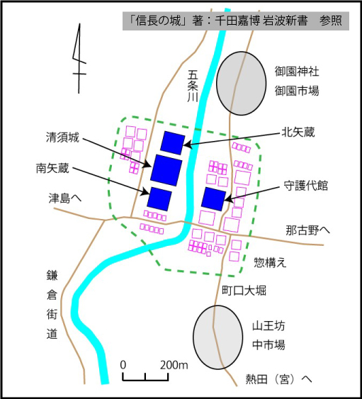 清洲城城下町復元図