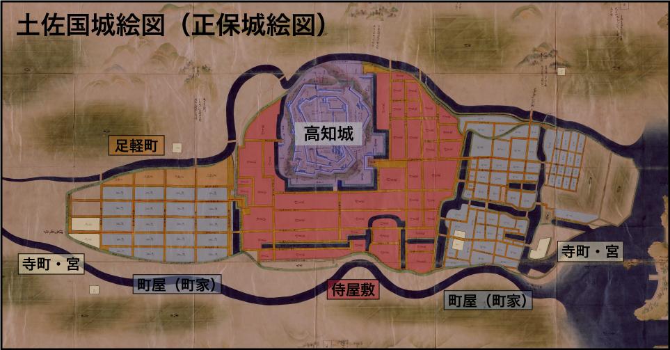 高知城ー城下町