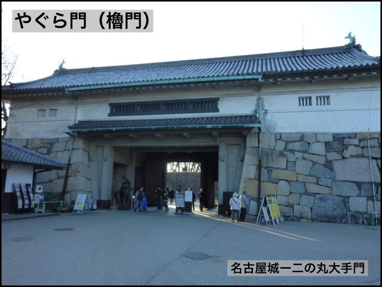 やぐら門ー名古屋城二の丸大手門