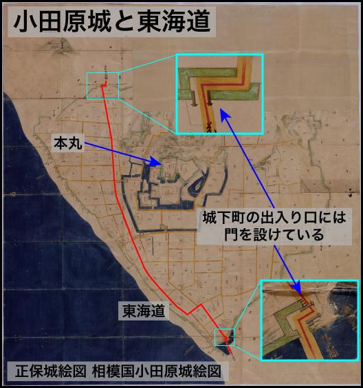 小田原城と東海道