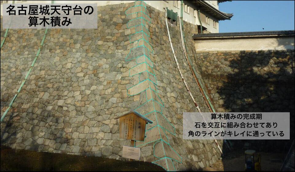 算木積みー名古屋城