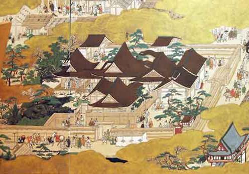 上杉本陶版『洛中洛外圖』に描かれた「花の御所」