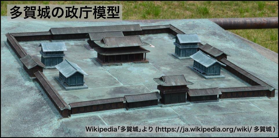 多賀城の政庁模型