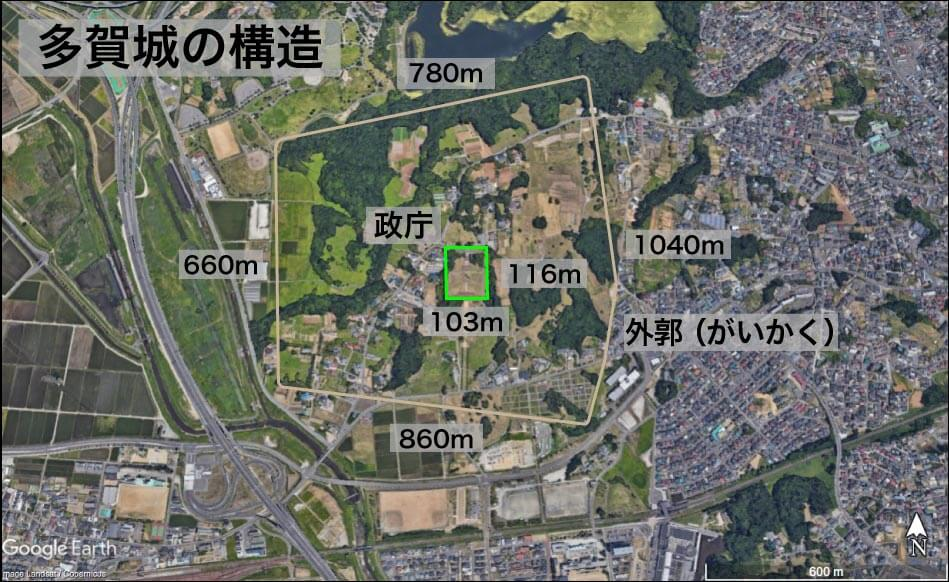 多賀城(宮城県)の構造