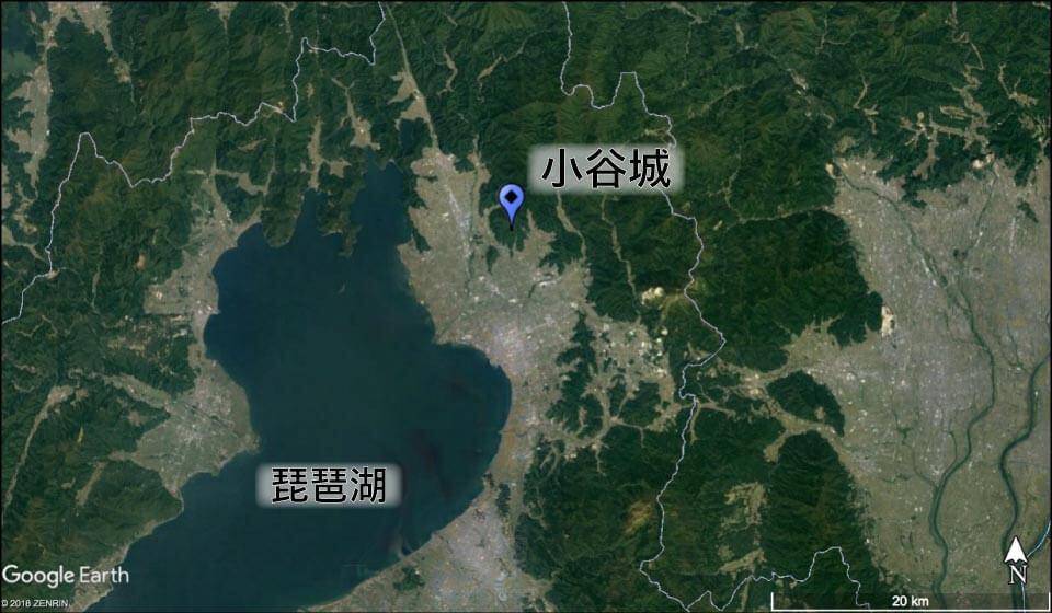 小谷城(滋賀県)の場所