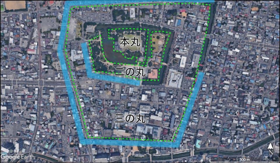 松本城の縄張り