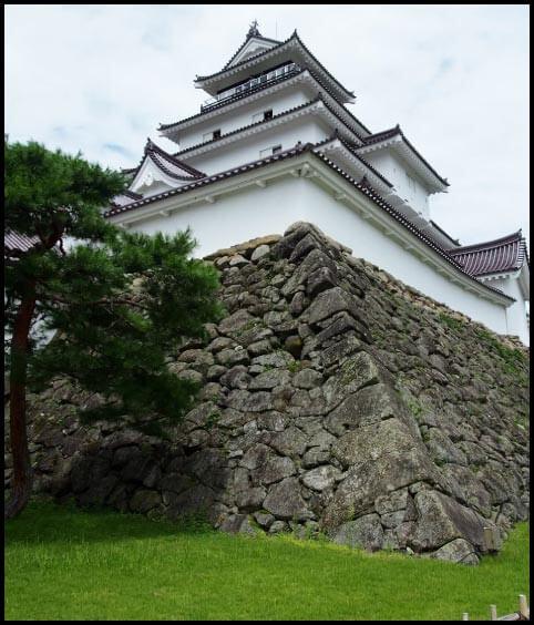 会津若松城の天守台石垣