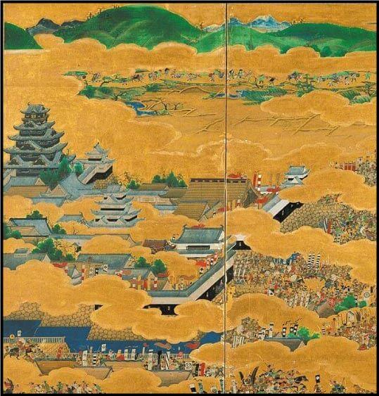 大坂夏の陣図屏風に描かれている大阪城