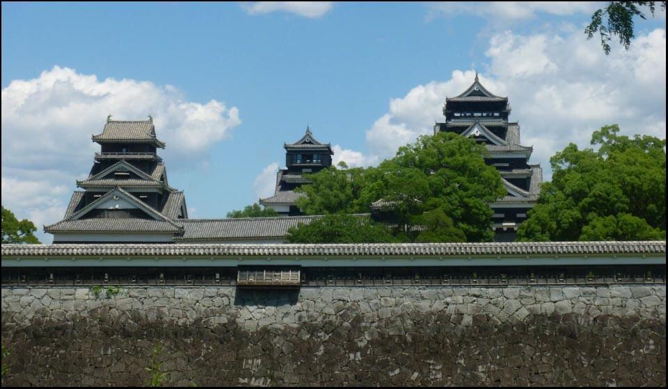 熊本城の大小天守と宇土櫓