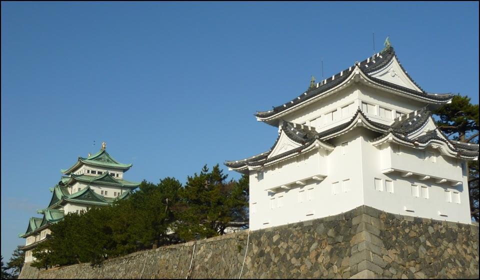 名古屋城大天守と西南隅櫓