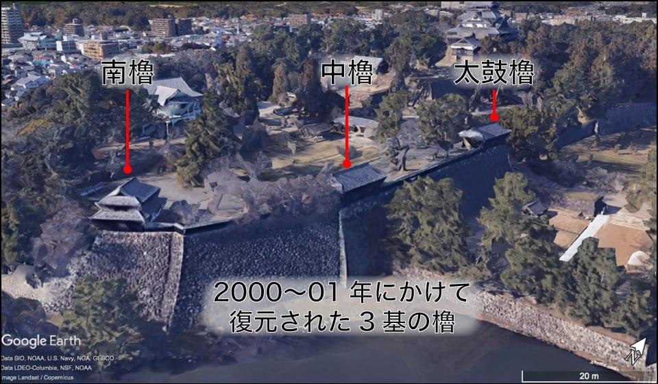 松江城の復元された櫓