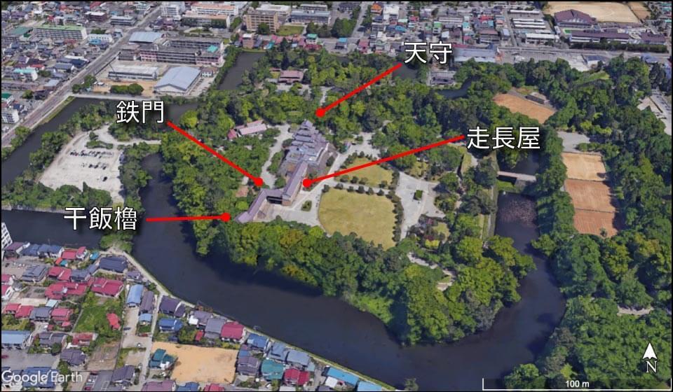 会津若松城の全景