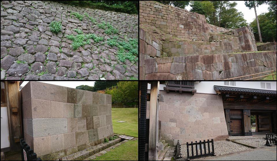 金沢城のさまざまな石垣
