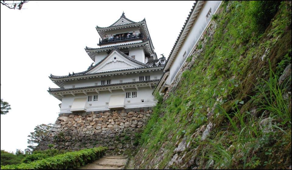 高知城天守と石垣