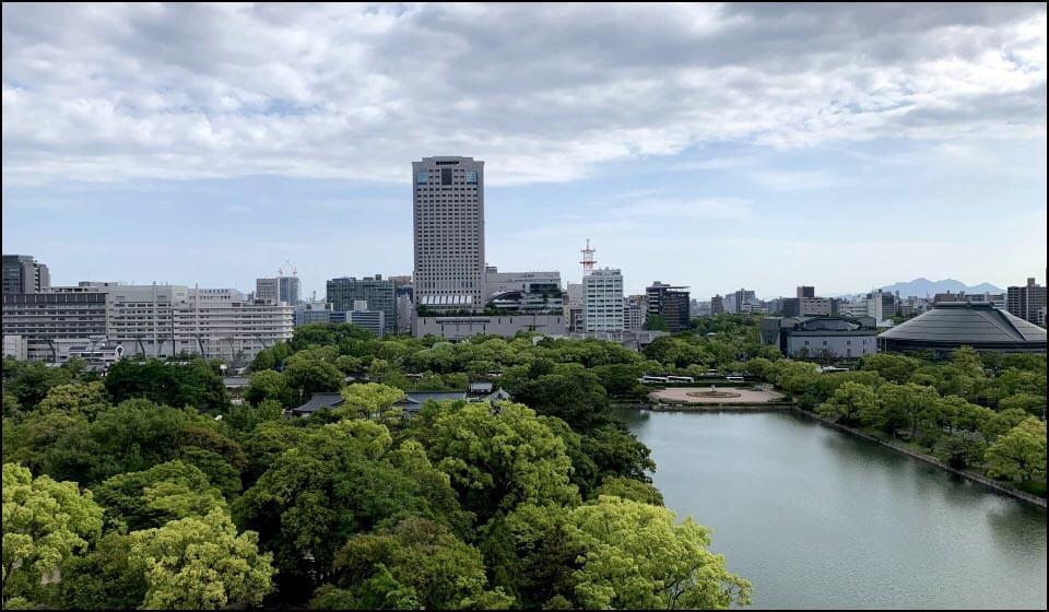天守から見た広島の街
