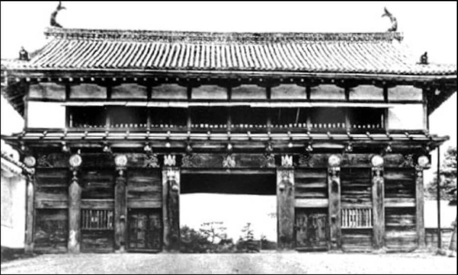 焼失する以前に撮影された仙台城大手門