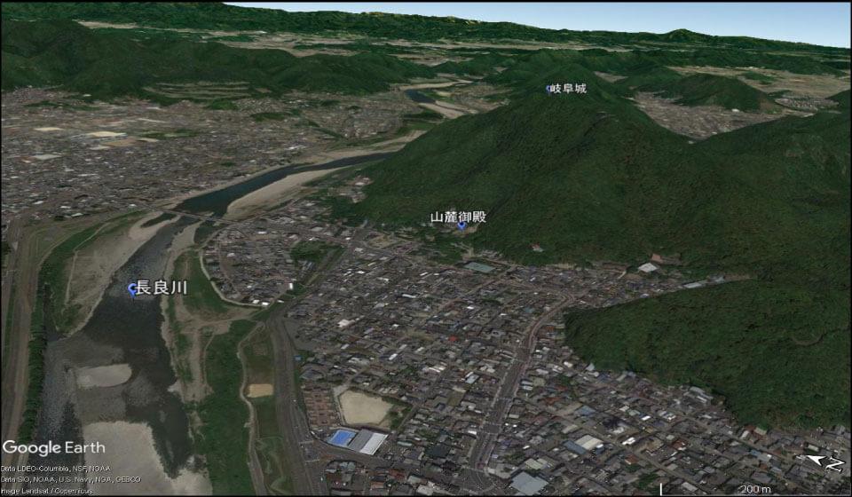 岐阜城の全景