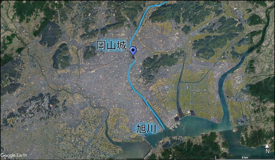 岡山城の立地