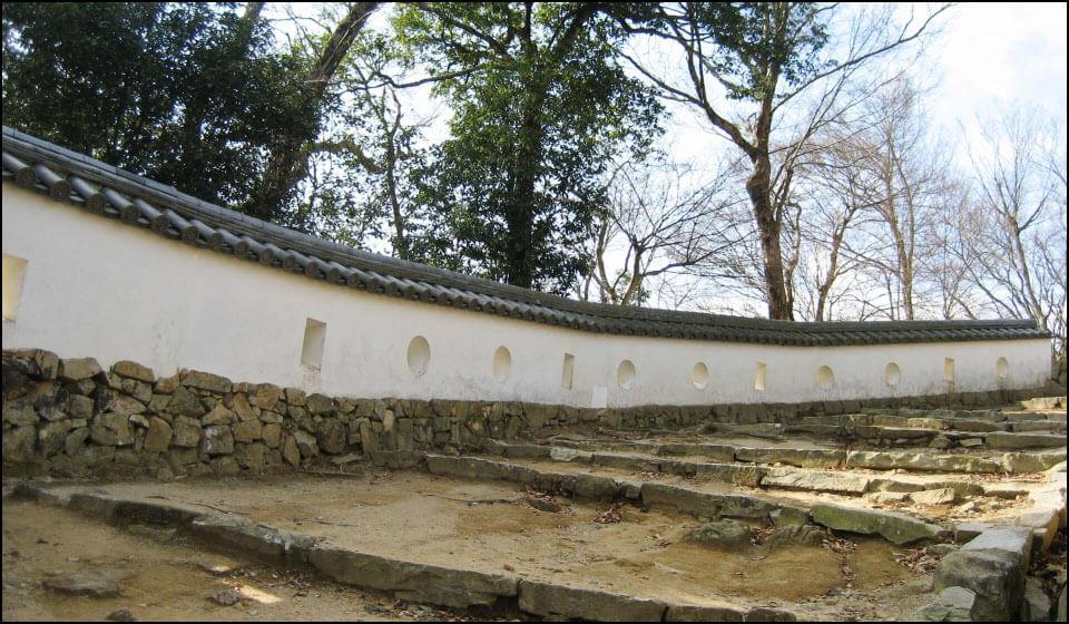 備中松山城の土塀