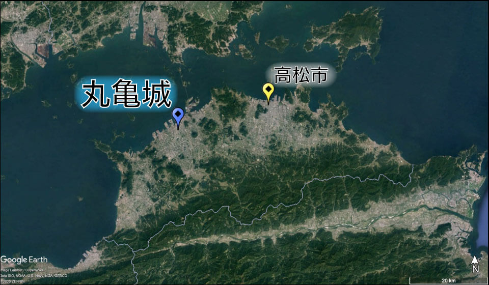 丸亀城の場所