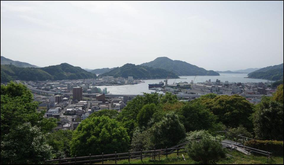 宇和島城からの景色