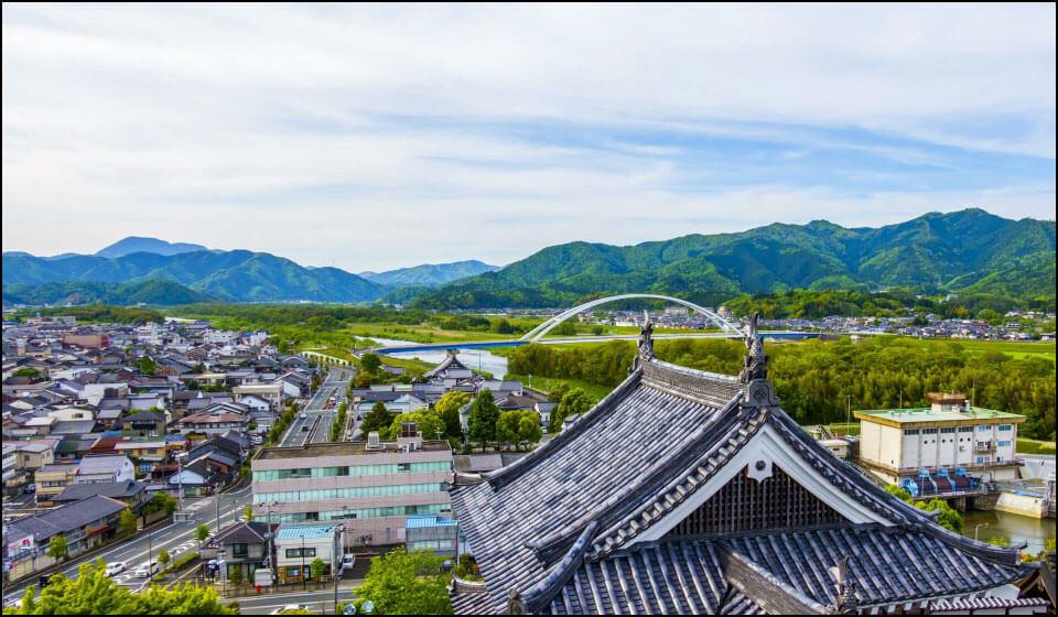 福知山城からの景色