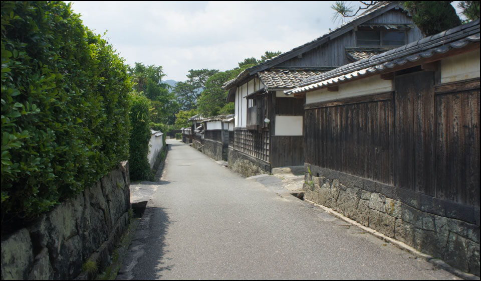 江戸時代の情景が残る萩城下町
