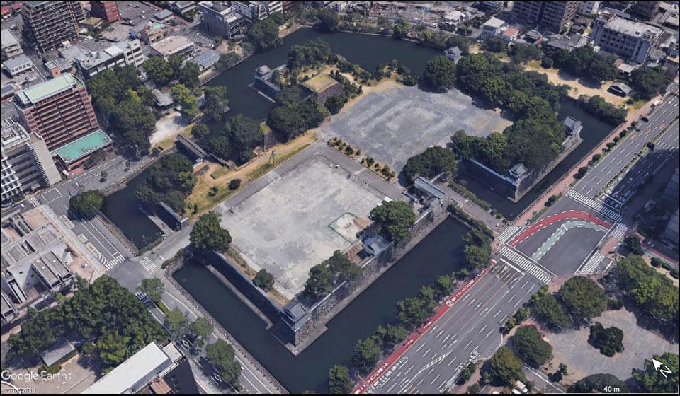 大分城址公園として整備された府内城