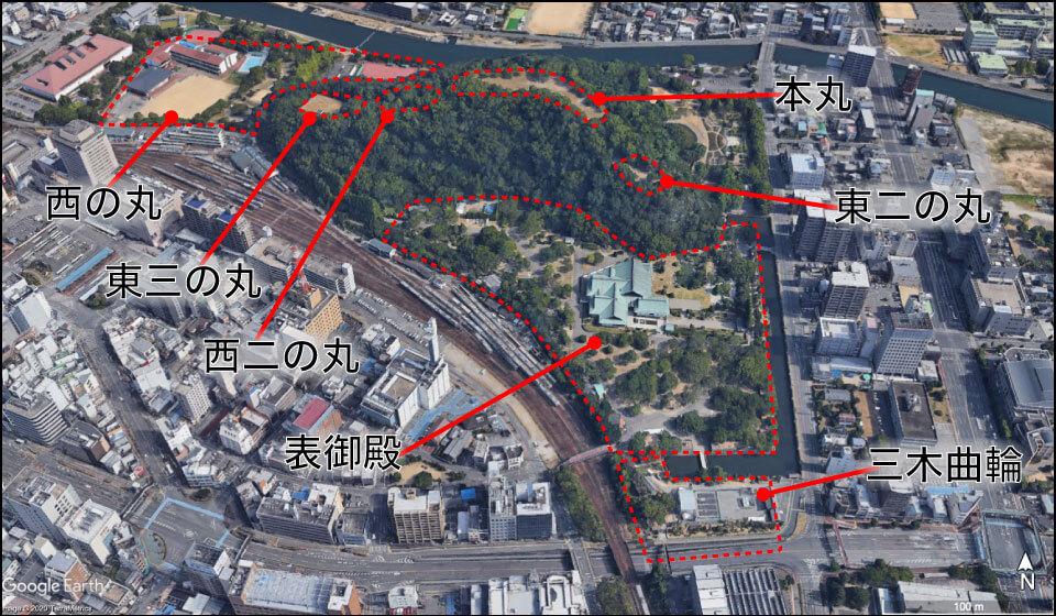 徳島城の構造