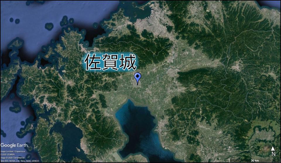 佐賀城の場所