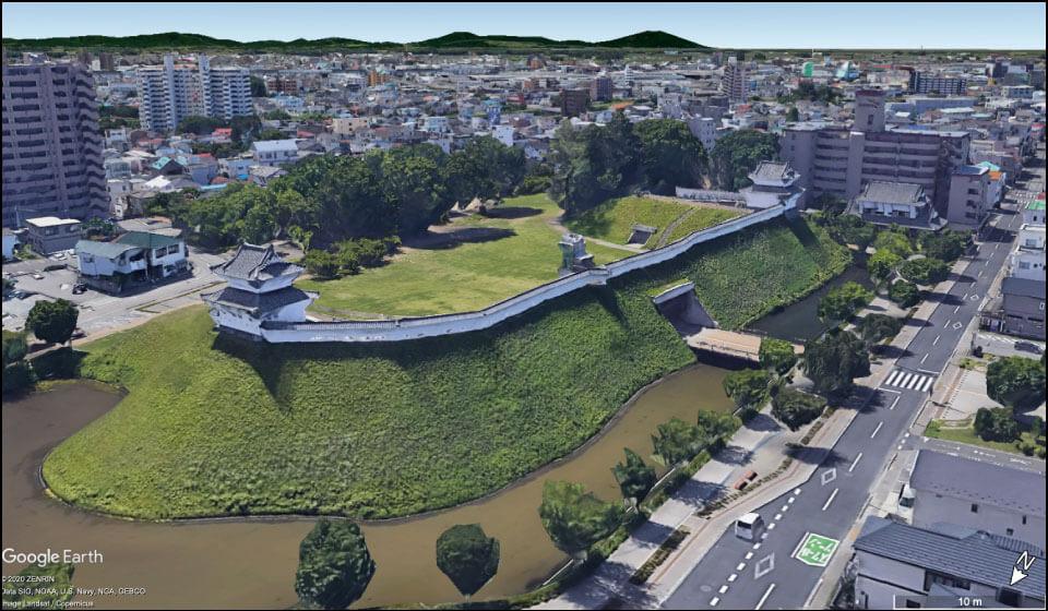一部復元された宇都宮城本丸
