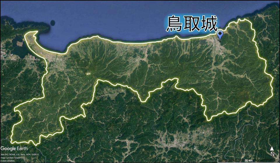 鳥取城の場所