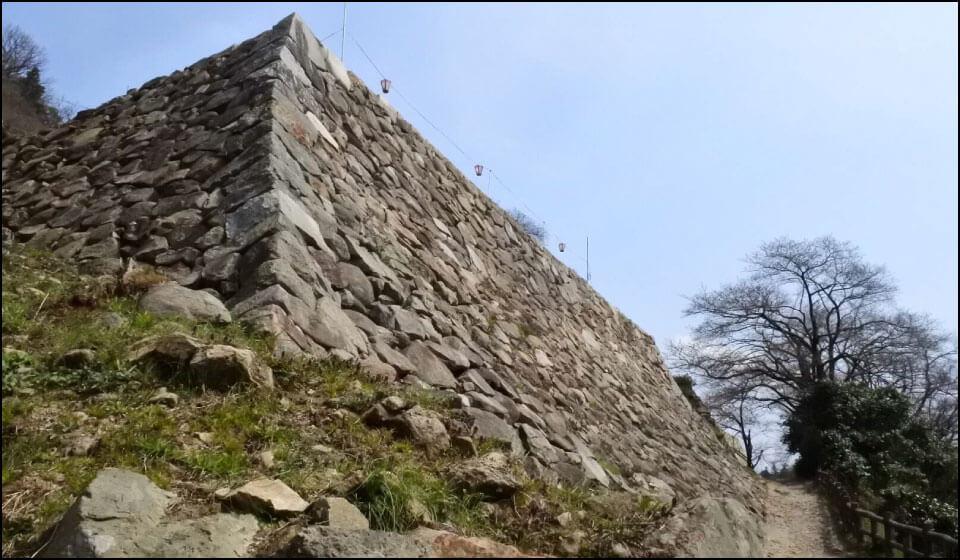 鳥取城の石垣
