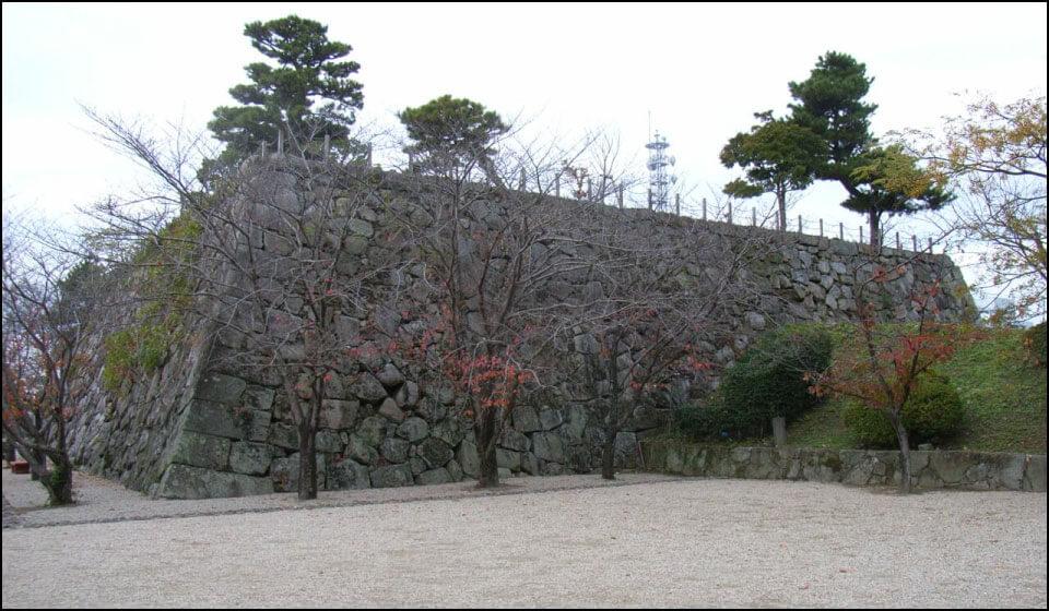 佐賀城の天守台石垣