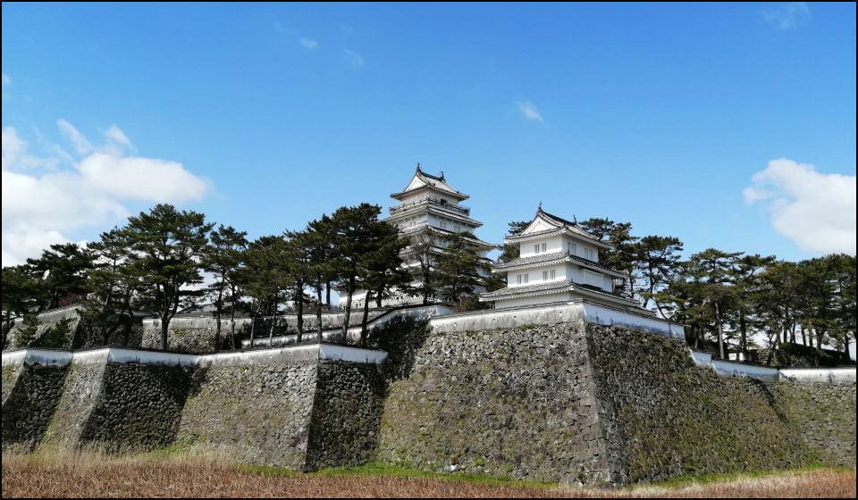 島原城の天守と巽三重櫓
