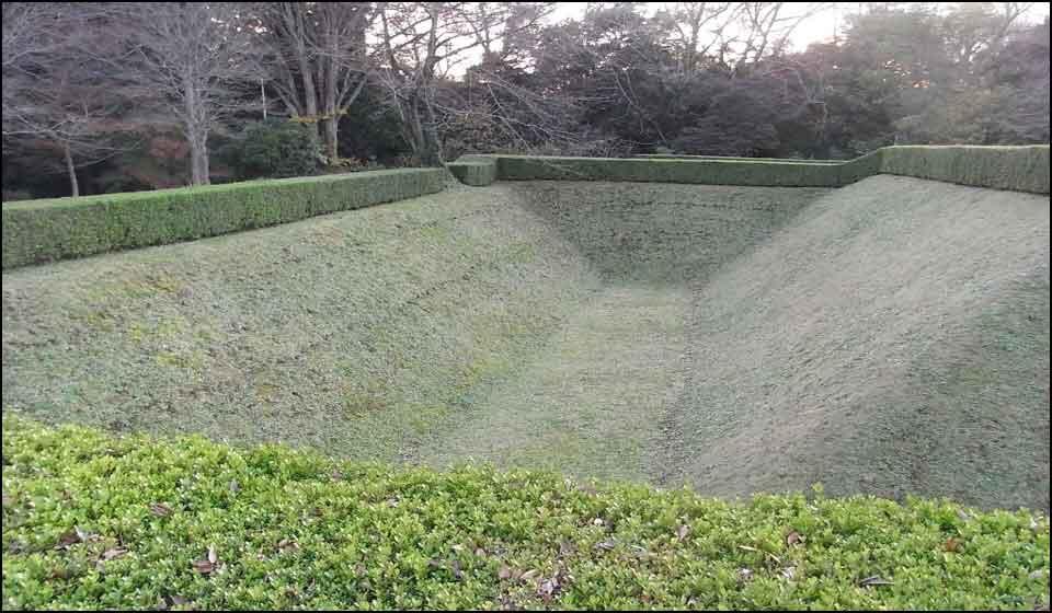 佐倉城の空堀