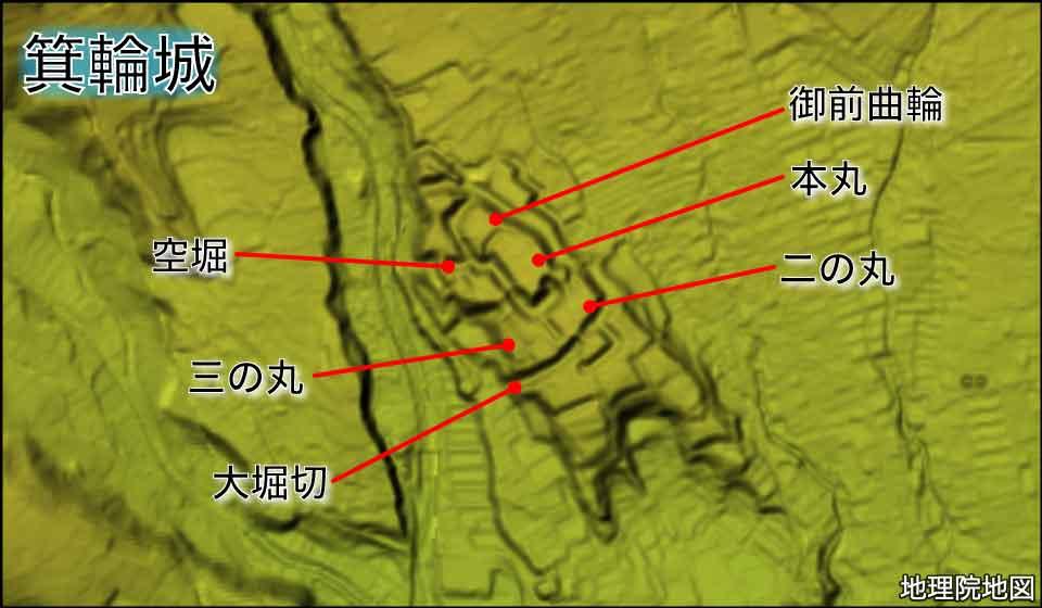 箕輪城の縄張り